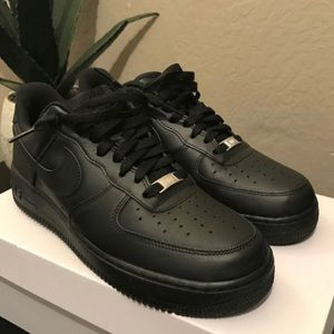 Nike Shoes   Black Air Force Ones With